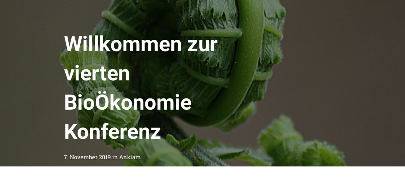 4th Bioeconomy Conference Anklam (Germany)