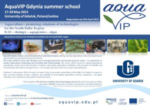 AquaVIP Gdynia summer school – registration open!