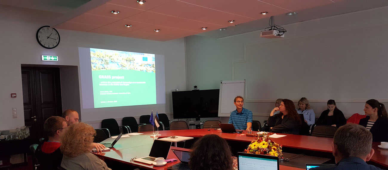 The Estonian project partners conducted the 1st stakeholder meeting within the GRASS project