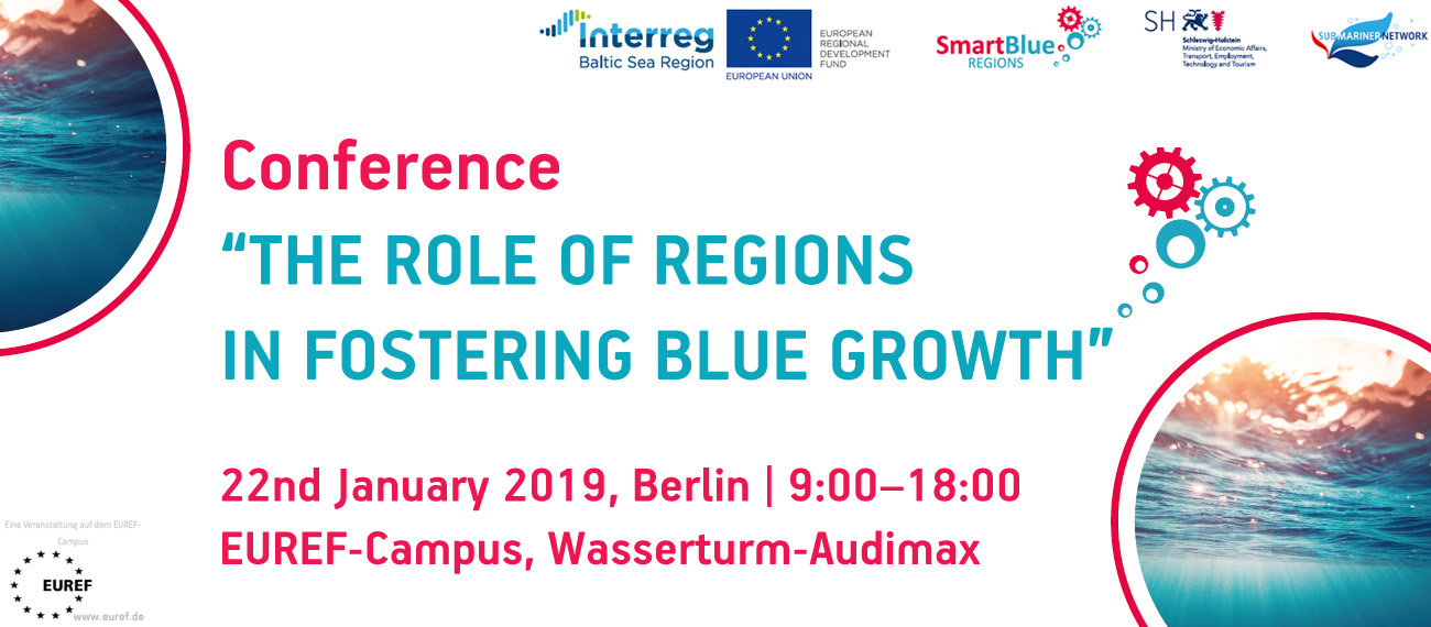 "Register for the conference ""The role of regions in fostering blue growth""!"